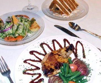 Delicious meal aboard the Southern Belle Riverboat