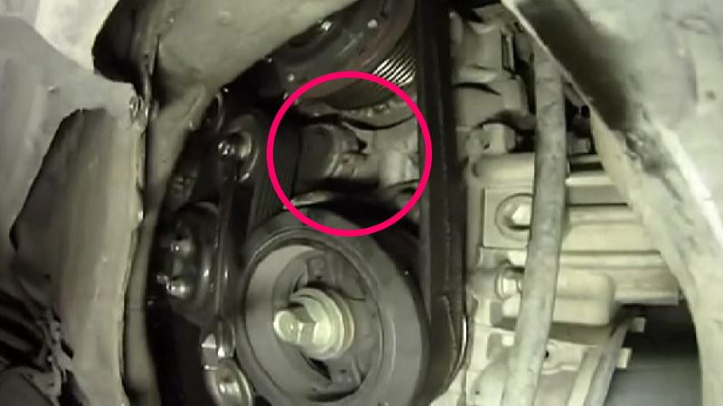 Toyota Camry 2007 2011 How To Replace Serpentine Belt Tensioner 396952 on toyota camry engine diagram