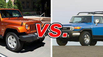 jeep wrangler vs toyota fj cruiser carsdirect. Black Bedroom Furniture Sets. Home Design Ideas