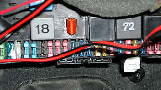 Car Fuse Panel Detail Car Fuse Panel