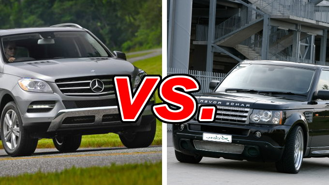 Mercedes benz ml vs land rover range rover sport carsdirect for Mercedes benz rover