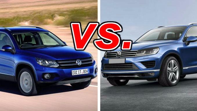 Forester Vs Outback >> Volkswagen Tiguan vs. Volkswagen Touareg - CarsDirect