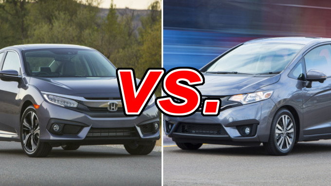 Honda civic vs honda fit carsdirect for Honda fit vs civic