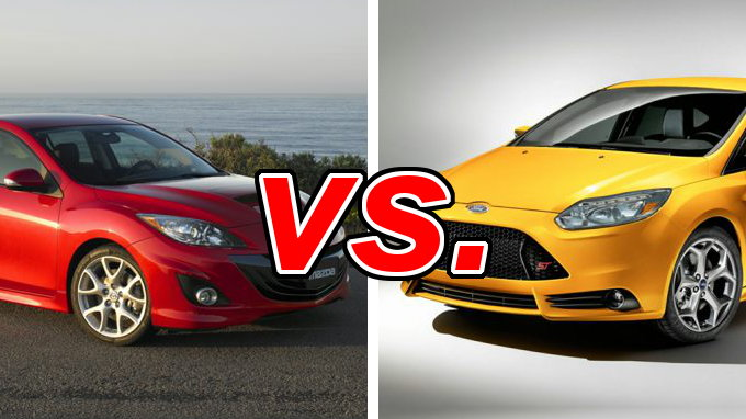mazda mazdaspeed3 vs ford focus st carsdirect. Black Bedroom Furniture Sets. Home Design Ideas