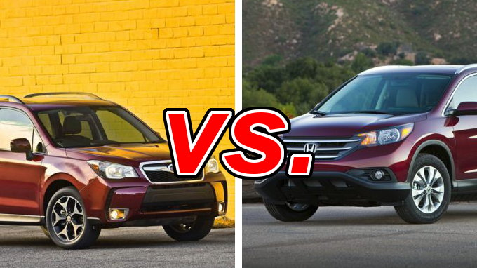 Subaru forester vs honda cr v carsdirect for Honda crv vs subaru forester