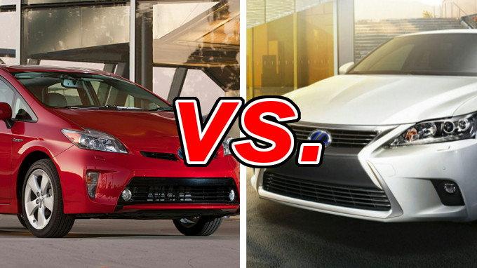 Nissan Murano Vs Rogue >> Toyota Prius vs. Lexus CT 200h - CarsDirect