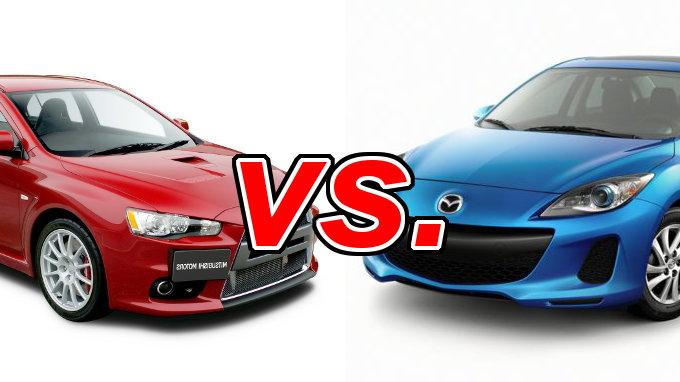 Mitsubishi Lancer Vs Mazda Mazda3 Carsdirect
