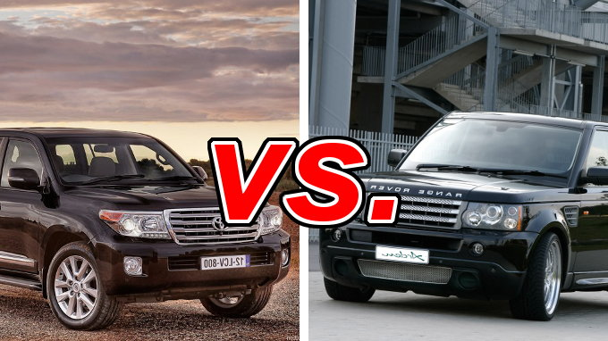 Forester Vs Outback >> Toyota Land Cruiser vs Land Rover Range Rover - CarsDirect