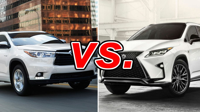 Toyota Highlander vs Lexus RX 350 - CarsDirect