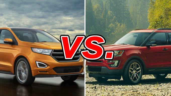 2015 Ford Edge For Sale >> Ford Edge vs Ford Explorer - CarsDirect