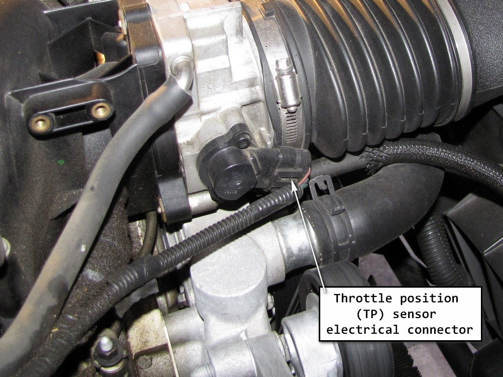 c5 corvette how to replace throttle position sensor