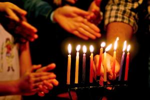 DIY Hanukkah Candles