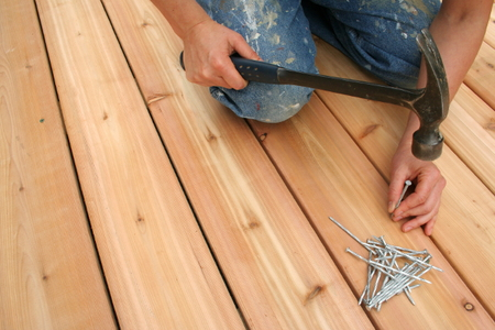 How to build a mobile home deck for How do you build a deck yourself