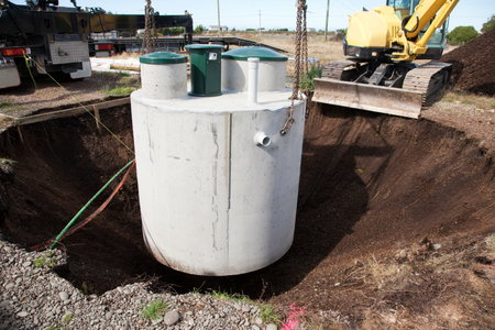 How to make a septic tank drain field for 1 bathroom septic system