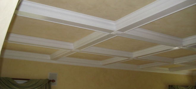 How To Create A Faux Coffered Ceiling Doityourself Com