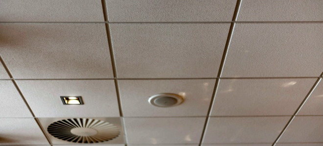 Old ceiling tiles when to replace them - Can you wallpaper drop ceiling tiles ...