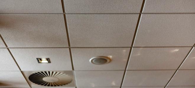 Old ceiling tile