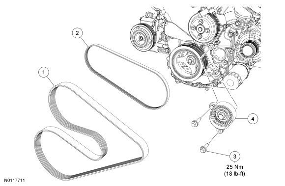 Ford F150 F250 How To Replace Serpentine Belt 359906 on 1992 ford f 150 serpentine belt diagram