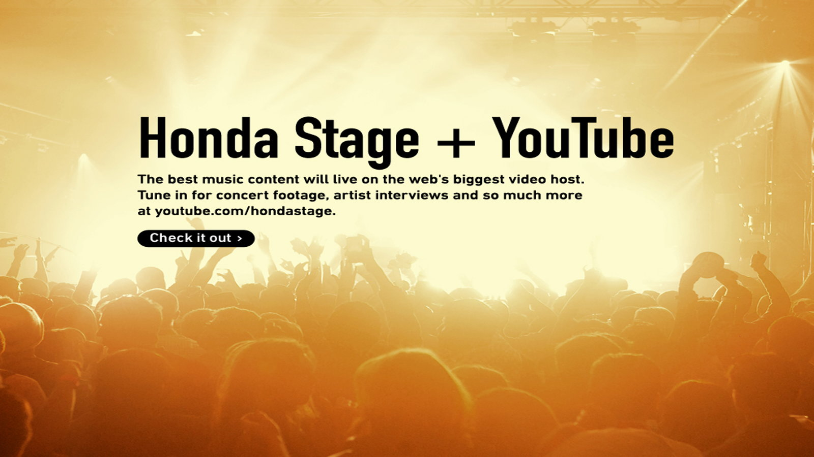 The Honda Stage Website and YouTube Channel