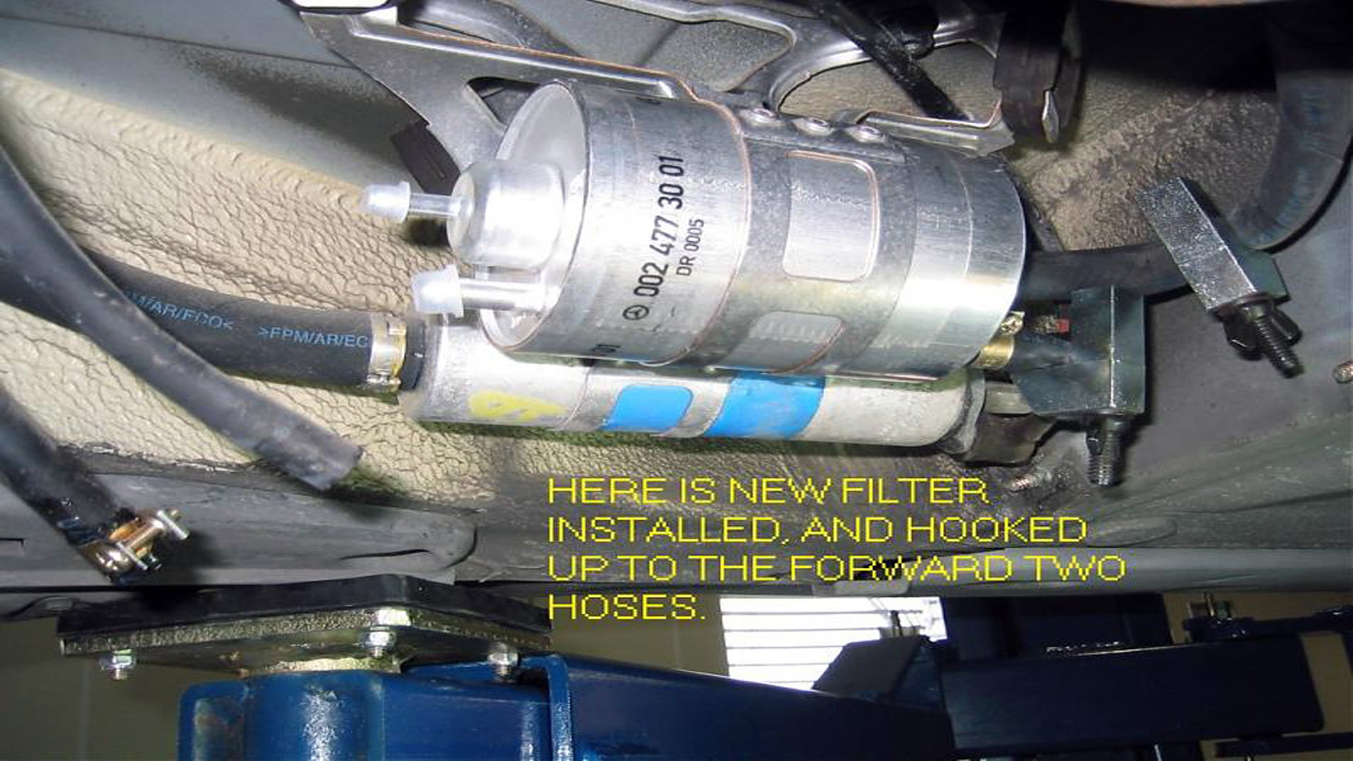 Mercedes Benz E Class and E Class AMG w211 How to Replace Fuel Filter - Mbworld