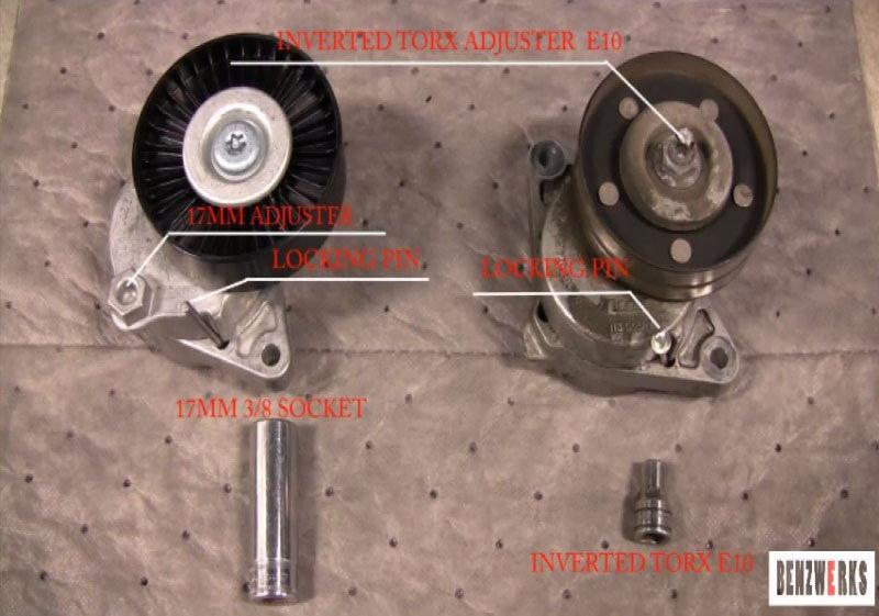 Mercedes-benz C-class W204 How To Replace Serpentine Belt