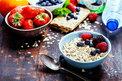 breakfast spread on table