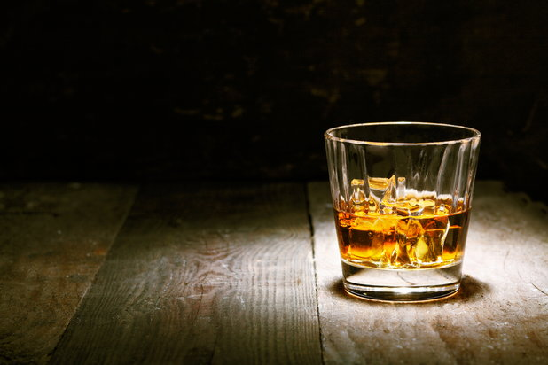 a glass of scotch