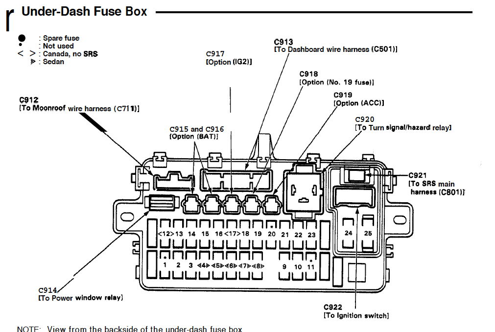 2008 acura tl door lock diagram