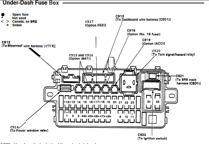 2000 acura tl fuel pump relay location