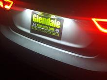 White led for license plate