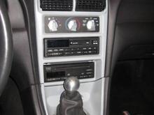 painted radio and shift bezel