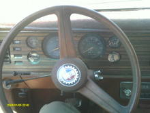 the steering wheel