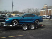 My husband's stang on it's way to receive a Kenne-Bell inplant!