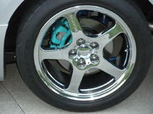 Painted calipers w/wheels