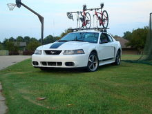 Yes its a Mach1 with a bike rack... I get some crazy looks with this set up