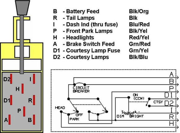 Gmc Headlight Switch Wiring Diagram : Ford f wiring diagrams get free image about