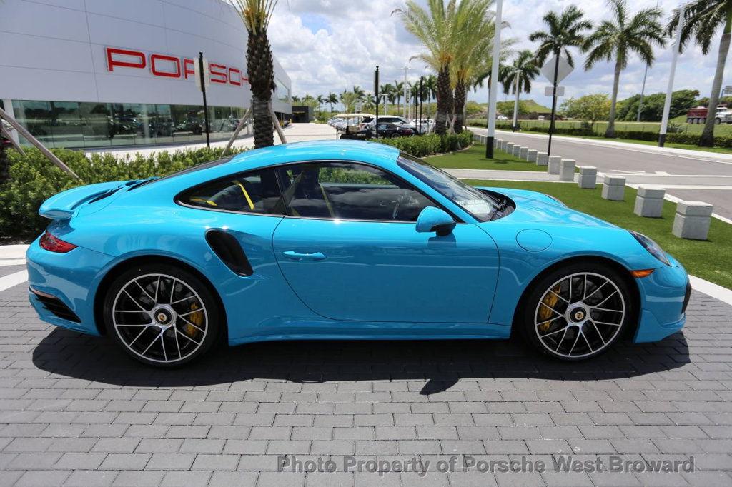 Dealer Inventory Miami Blue 2017 Porsche 911 Turbo S