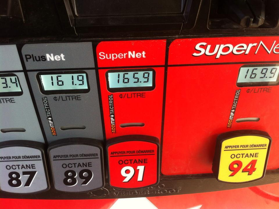 Gas prices brampton