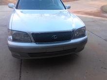 My 2000 Lexus LS400: Front View
