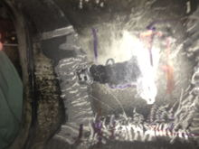 "Had to press the roof of the tunnel upwards ca 10-20mm(1/2"")  where the gear box hit the tunnel."