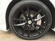Stock wheels gloss black powder coated