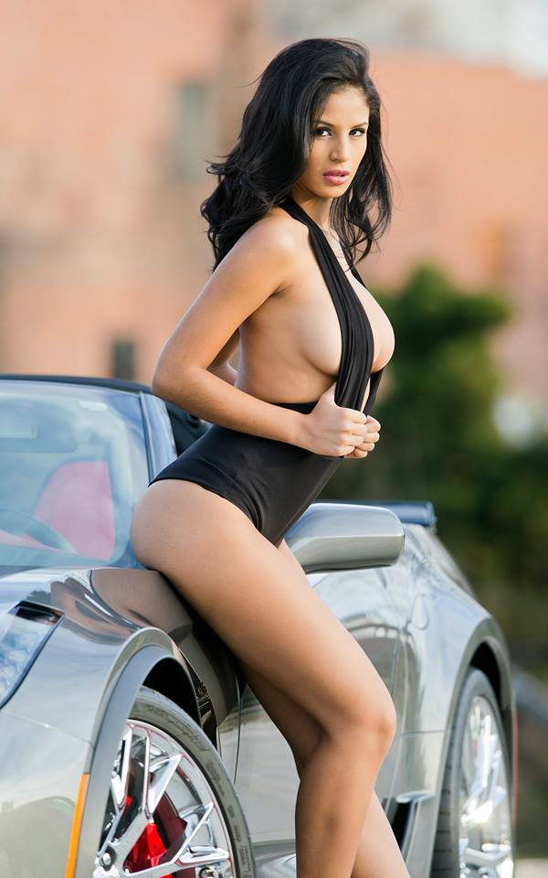 My Shark Grey Z06 With Sexy Latina Model Corvetteforum