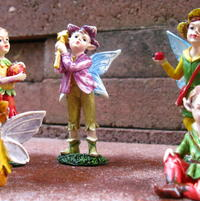 New fairies waiting to go into the garden June 2012