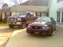 my truck and my 03 mustang