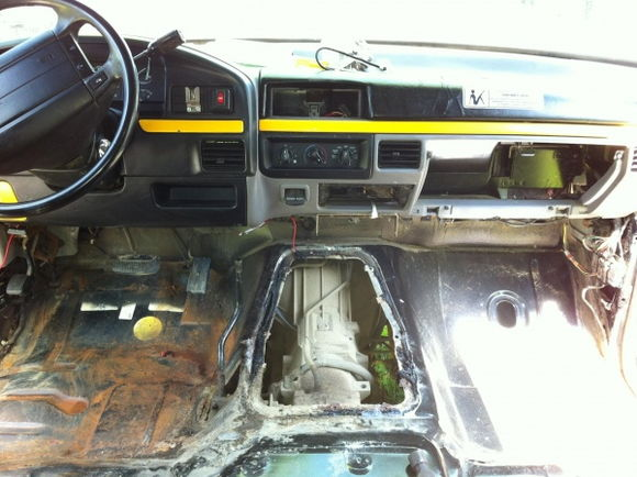 started gutting the interior