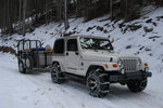 Jeep with chains