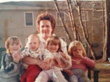 My siblings and I, with our mom
