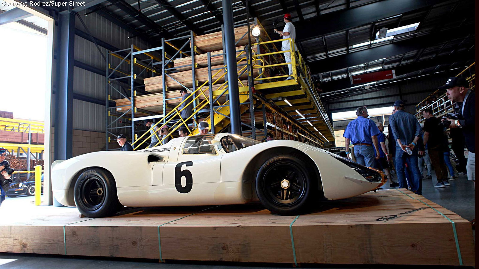 Air-Cooled Porsche Enthusiasts Converge on Lumber Giant