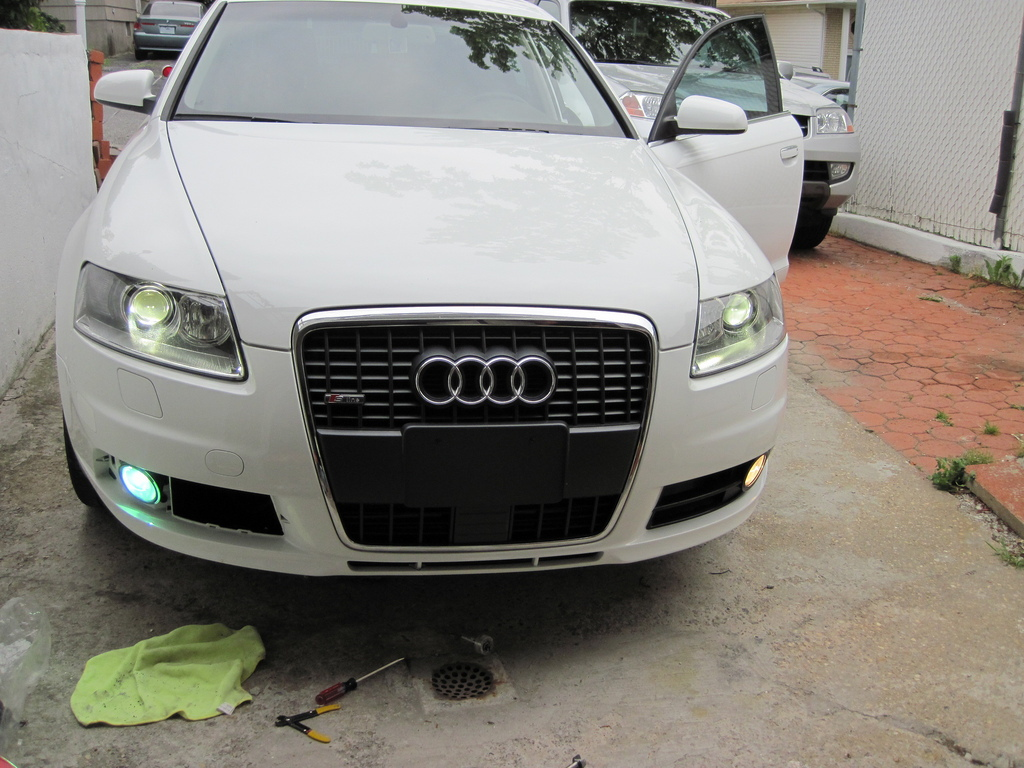 Audi A6 Bumper Conversionaudi S6 To Rs6 C7 Front 2004 A8 Conversion C5 C6 How Install Hid Fog Lights Audiworld