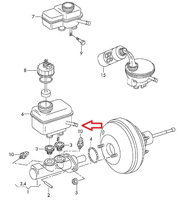 Audi A3 How To Replace Brake Master Cylinder